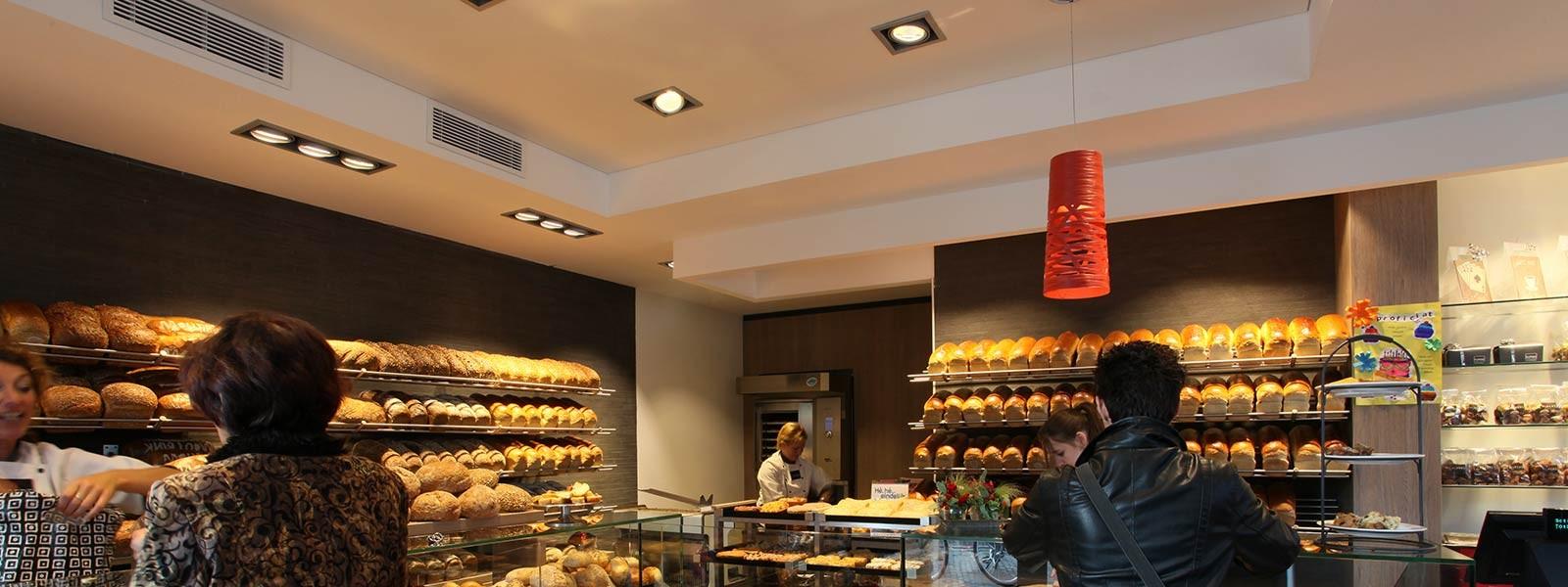 Verlichting in bakkerijen